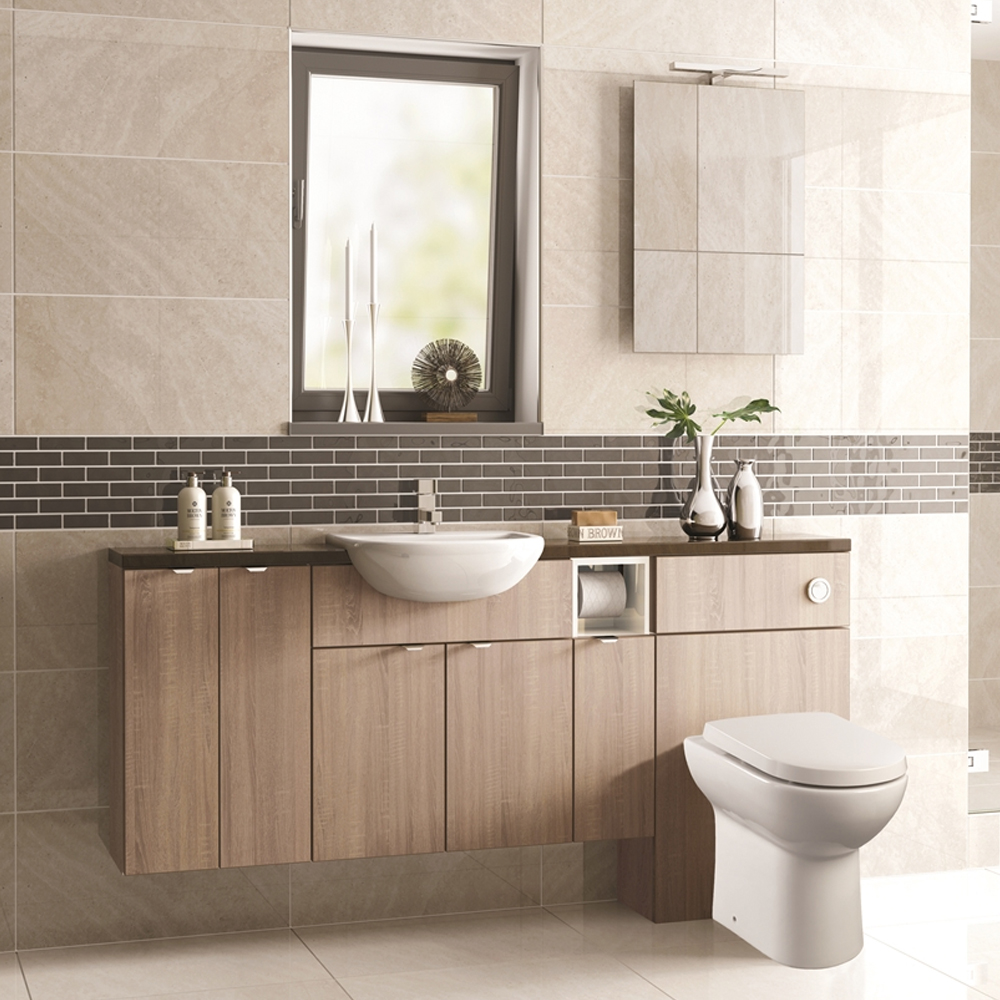 MATRIX – MULTI WOOD FINISHES – FITTED BATHROOM FURNITURE - Dale